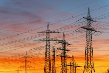 Electric poles and sunset : Stock Photo or Stock Video Download rcfotostock photos, images and assets rcfotostock | RC-Photo-Stock.: