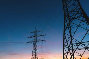 electric power transmission lines at sunset : Stock Photo or Stock Video Download rcfotostock photos, images and assets rcfotostock | RC-Photo-Stock.: