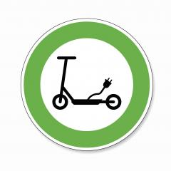 Electric Scooter traffic sign. German sign electro Scooter E Scooter EScooter electric eco friendly on white background. Vector Eps 10. : Stock Photo or Stock Video Download rcfotostock photos, images and assets rcfotostock | RC-Photo-Stock.: