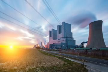electricity Coal-fired power plant at sunset - Stock Photo or Stock Video of rcfotostock | RC-Photo-Stock