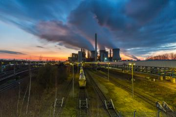 electricity factory on sunset : Stock Photo or Stock Video Download rcfotostock photos, images and assets rcfotostock | RC-Photo-Stock.:
