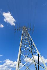 electricity pylon on blue cloudy sky industry high voltage : Stock Photo or Stock Video Download rcfotostock photos, images and assets rcfotostock | RC-Photo-Stock.: