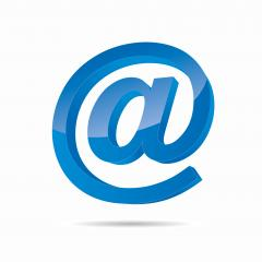 Email sign or at mail icon in 3D design and blue Color. Vector illustration. Eps 10 vector file.- Stock Photo or Stock Video of rcfotostock | RC-Photo-Stock