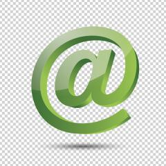 Email sign or at mail icon in 3D design and green Color on checked transparent background. Vector illustration. Eps 10 vector file. : Stock Photo or Stock Video Download rcfotostock photos, images and assets rcfotostock | RC-Photo-Stock.: