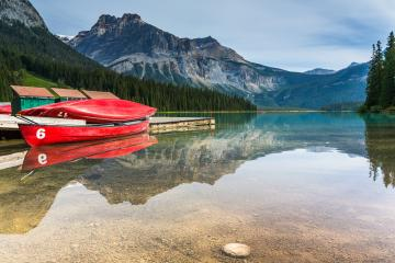 emerald lake canoe rental at the Yoho National Park canada - Stock Photo or Stock Video of rcfotostock | RC-Photo-Stock