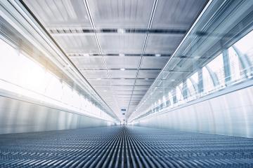 empty airport Skywalk- Stock Photo or Stock Video of rcfotostock | RC-Photo-Stock