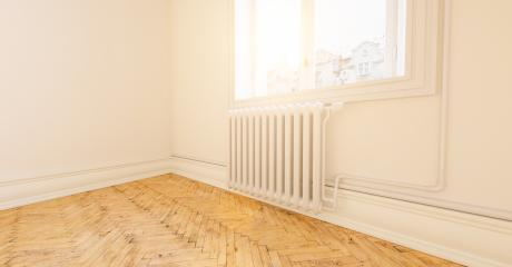 Empty bright white room with radiator in old building in berlin- Stock Photo or Stock Video of rcfotostock | RC-Photo-Stock