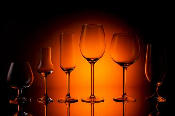 empty Glasses of various varieties- Stock Photo or Stock Video of rcfotostock | RC-Photo-Stock