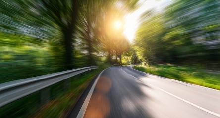 Empty long mountain road to the horizon on a sunny summer day at bright sunset with motion blur, Backplate or Backdrop background. : Stock Photo or Stock Video Download rcfotostock photos, images and assets rcfotostock | RC-Photo-Stock.: