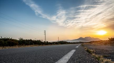 Empty long road on a sunny summer day at bright sunset : Stock Photo or Stock Video Download rcfotostock photos, images and assets rcfotostock | RC-Photo-Stock.: