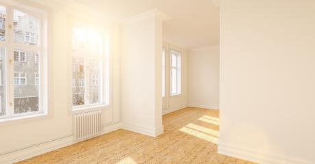 Empty room with parquet floor and white background wall- Stock Photo or Stock Video of rcfotostock | RC-Photo-Stock