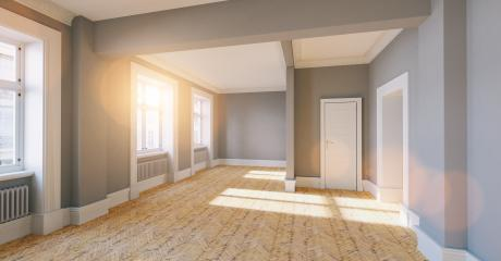 Empty through room in old house with oak parquet in london- Stock Photo or Stock Video of rcfotostock | RC-Photo-Stock