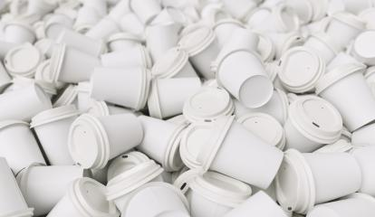 empty white to go coffee cups on a pile- Stock Photo or Stock Video of rcfotostock | RC-Photo-Stock