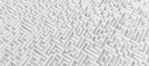endless maze, banner size - 3d rendering : Stock Photo or Stock Video Download rcfotostock photos, images and assets rcfotostock | RC-Photo-Stock.: