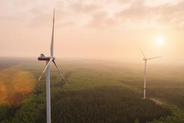 Energy windmills power electricity sunset sunrise nature- Stock Photo or Stock Video of rcfotostock | RC-Photo-Stock