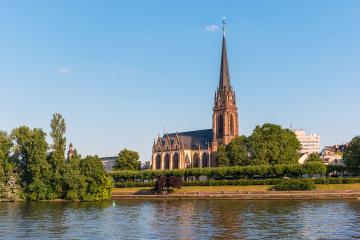 Epiphany church (Dreikönigskirche) at Frankfurt am Main, Germany- Stock Photo or Stock Video of rcfotostock | RC-Photo-Stock