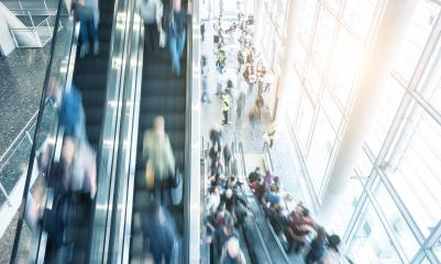 escalator crowd in a shopping mall- Stock Photo or Stock Video of rcfotostock | RC-Photo-Stock