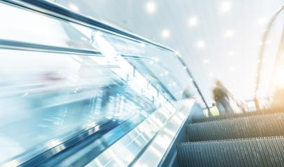 escalator view at a traid fair- Stock Photo or Stock Video of rcfotostock | RC-Photo-Stock