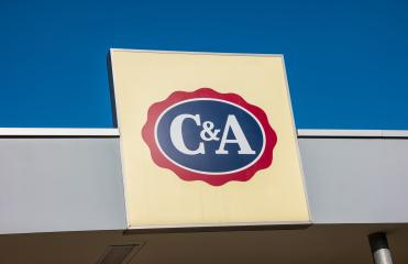 ESCHWEILER, GERMANY FEBRUARY, 2017: C&A store sign. C&A is an international Dutch chain of fashion retail clothing stores. It has retail stores in many countries in Europe, Central and South America. - Stock Photo or Stock Video of rcfotostock | RC-Photo-Stock