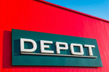 ESCHWEILER, GERMANY FEBRUARY, 2017: DEPOT Decoration Store sign. DEPOT is a German store for Decoration and home accessories, based in Niedernberg, Germany.- Stock Photo or Stock Video of rcfotostock | RC-Photo-Stock