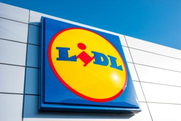 ESCHWEILER, GERMANY FEBRUARY, 2017: LIDL supermarket chain sign. LIDL is a German global discount supermarket chain, based in Neckarsulm, Baden-Wuerttemberg, Germany.- Stock Photo or Stock Video of rcfotostock | RC-Photo-Stock