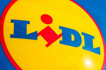 ESCHWEILER, GERMANY FEBRUARY, 2017: LIDL supermarket sign. LIDL is a German global discount supermarket chain, based in Neckarsulm, Baden-Wuerttemberg, Germany.- Stock Photo or Stock Video of rcfotostock | RC-Photo-Stock