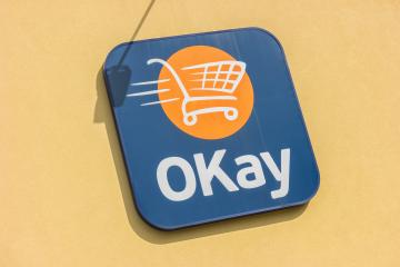 EUPEN, GERMANY OCTOBER, 2017: OKay supermarket logo on a Store. OKay is a neighbourhood stores supermarket chain of the Colruyt Group.- Stock Photo or Stock Video of rcfotostock | RC-Photo-Stock
