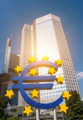 Euro sign at European Central Bank headquarters in Frankfurt- Stock Photo or Stock Video of rcfotostock | RC-Photo-Stock