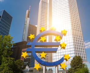 Euro sign at European Central Bank headquarters in Frankfurt am main, germany- Stock Photo or Stock Video of rcfotostock   RC-Photo-Stock
