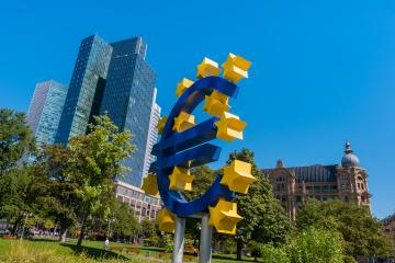 EURO sign at the financial district in Frankfurt- Stock Photo or Stock Video of rcfotostock | RC-Photo-Stock