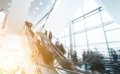 Exhibition escalator crowd at germany- Stock Photo or Stock Video of rcfotostock | RC-Photo-Stock
