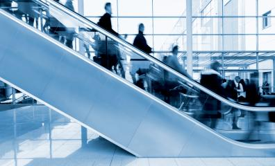Exhibition staircase with blurred people- Stock Photo or Stock Video of rcfotostock | RC-Photo-Stock