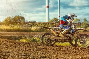 Extreme Motocross MX Rider riding on dirt track- Stock Photo or Stock Video of rcfotostock | RC-Photo-Stock