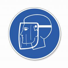 Face Shield Must Be Worn. Wear face shield for Coronavirus or Covid-19, mandatory sign or safety sign, on white background. Vector illustration. Eps 10 vector file.- Stock Photo or Stock Video of rcfotostock | RC-Photo-Stock