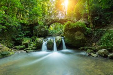 fairytale waterfall in deep the forest : Stock Photo or Stock Video Download rcfotostock photos, images and assets rcfotostock | RC-Photo-Stock.: