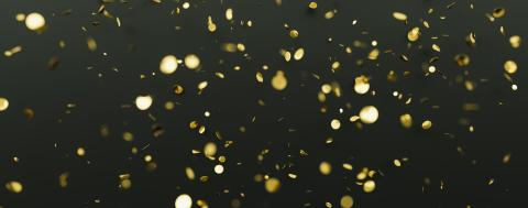 Falling confetti isolated on a black background. template for your holiday, party, festival or birthday, banner size- Stock Photo or Stock Video of rcfotostock | RC-Photo-Stock