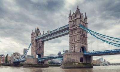 Famous Tower Bridge with dramatic cloudy sky in London, England- Stock Photo or Stock Video of rcfotostock | RC-Photo-Stock