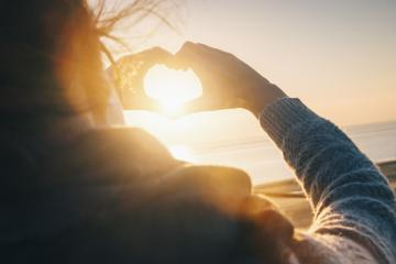 Female hands in the form of heart against sunlight at sunset on - Stock Photo or Stock Video of rcfotostock | RC-Photo-Stock