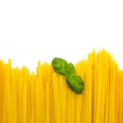 Fettuccine paste with basil leaf- Stock Photo or Stock Video of rcfotostock | RC-Photo-Stock