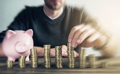 Finance stack coins and piggy bank - Stock Photo or Stock Video of rcfotostock | RC-Photo-Stock