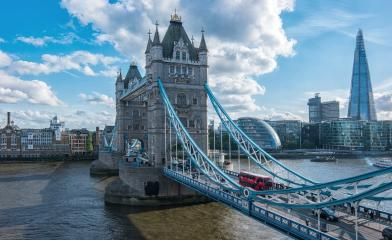 Financial District of London and the Tower Bridge- Stock Photo or Stock Video of rcfotostock   RC-Photo-Stock