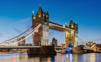 Financial District of London and the Tower Bridge at sunset, England.- Stock Photo or Stock Video of rcfotostock | RC-Photo-Stock