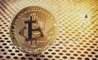 Financial growth concept with golden Bitcoin with forex chart. P- Stock Photo or Stock Video of rcfotostock | RC-Photo-Stock