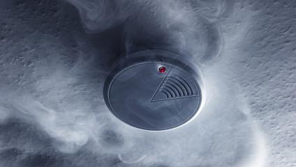Fire alarm will be triggered with a smoke detector : Stock Photo or Stock Video Download rcfotostock photos, images and assets rcfotostock | RC-Photo-Stock.: