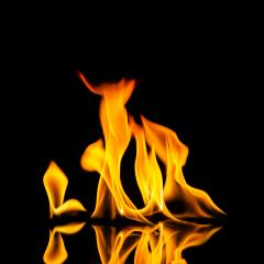 fire flames on black background- Stock Photo or Stock Video of rcfotostock | RC-Photo-Stock