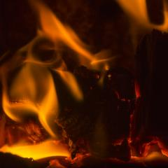 fireplace fire flame burn firewood cozy winter fossil energy - Stock Photo or Stock Video of rcfotostock | RC-Photo-Stock
