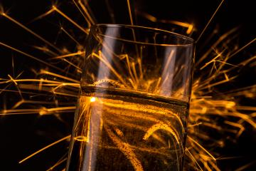 firework behind a champagne glass- Stock Photo or Stock Video of rcfotostock | RC-Photo-Stock