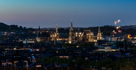 firworks over aachen city at night- Stock Photo or Stock Video of rcfotostock | RC-Photo-Stock
