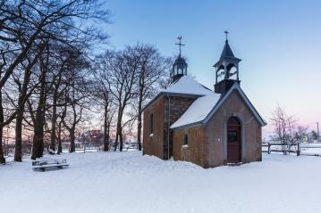 Fischbach chapel at sunset in winter : Stock Photo or Stock Video Download rcfotostock photos, images and assets rcfotostock | RC-Photo-Stock.:
