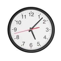 five o'clock on awall clock isolated on white : Stock Photo or Stock Video Download rcfotostock photos, images and assets rcfotostock | RC-Photo-Stock.: